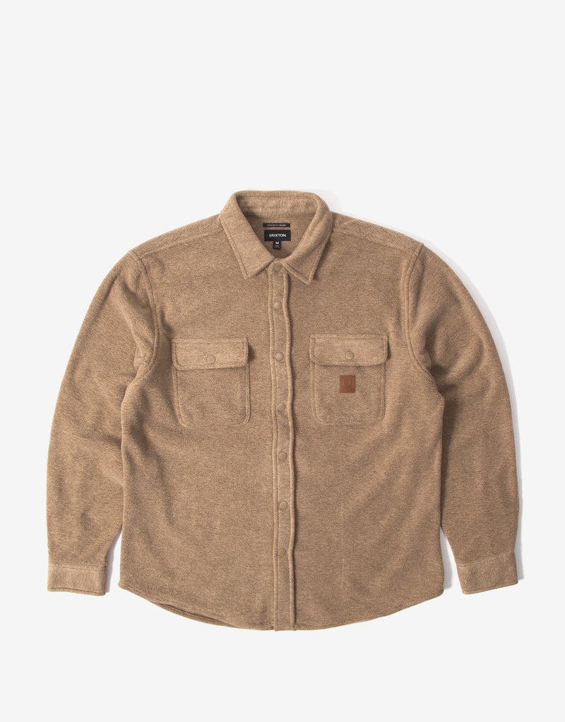 Brixton Bowery Fleece Flannel Shirt - Oatmeal