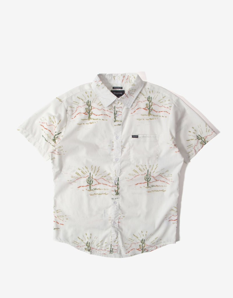 Brixton Charter Print Short Sleeve Shirt - Dove