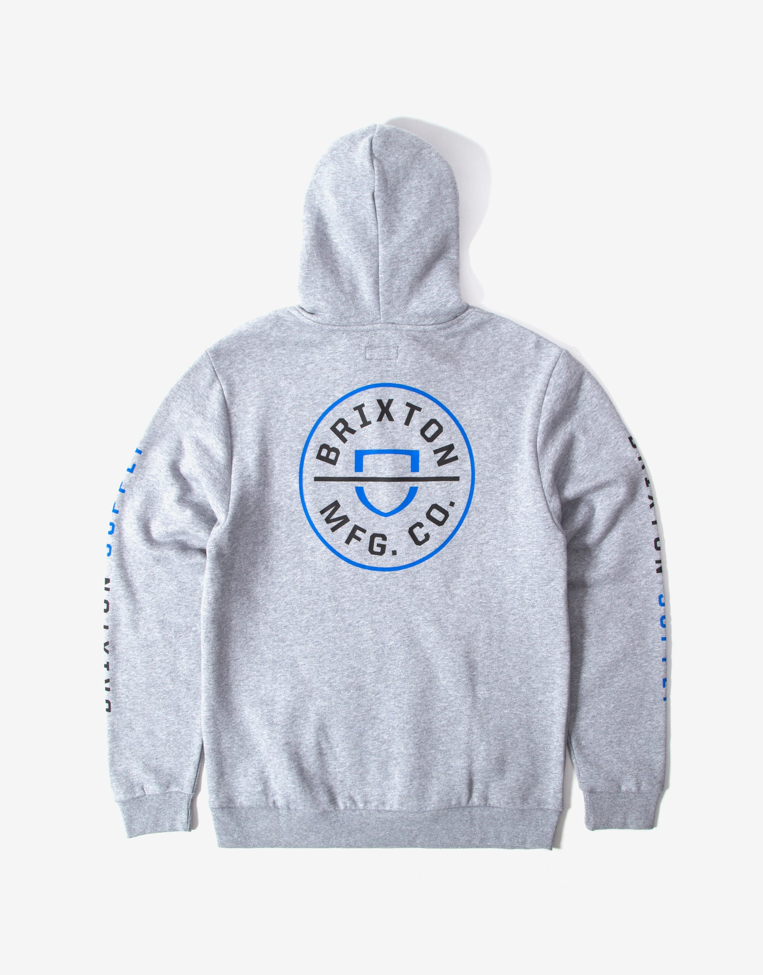 Brixton Crest Hoody - Heather Grey