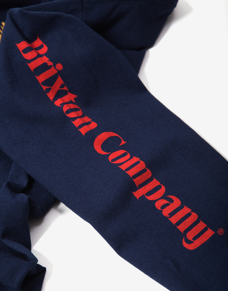 Brixton Descent III Long Sleeve T Shirt - Navy
