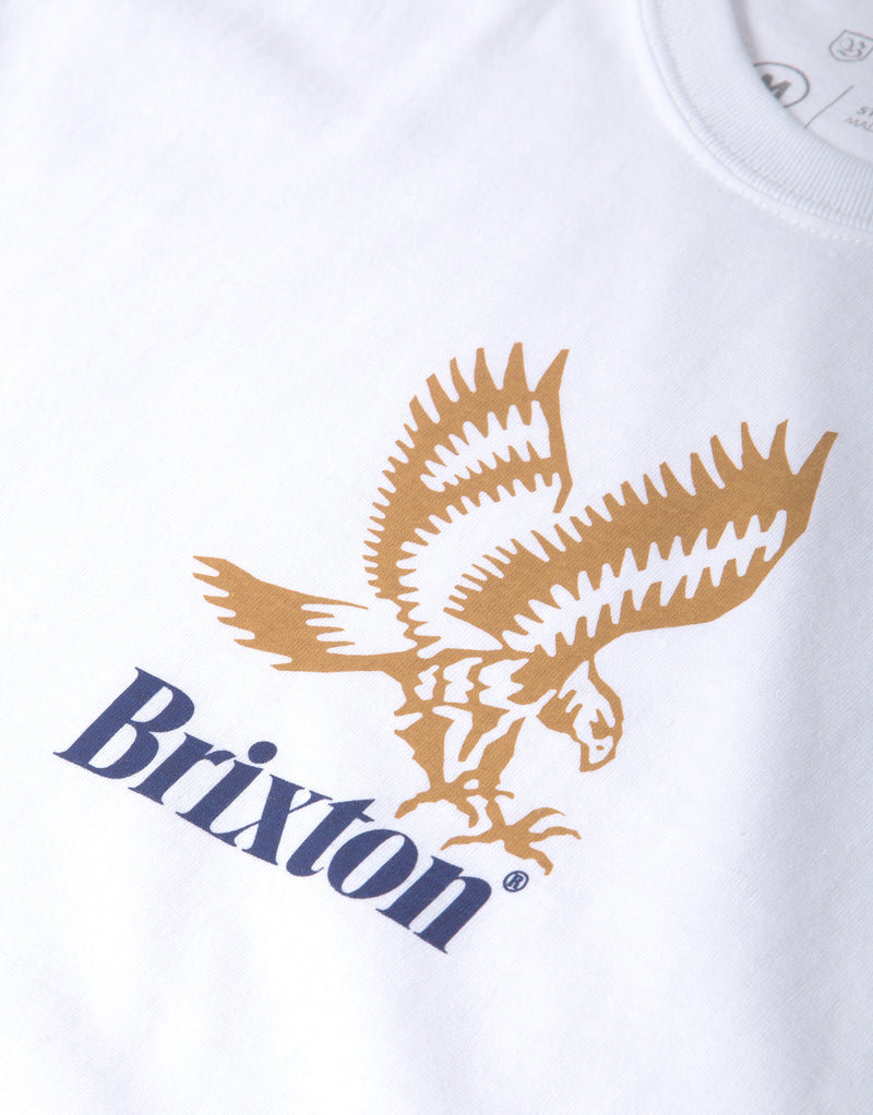Brixton Descent III Long Sleeve T Shirt - White