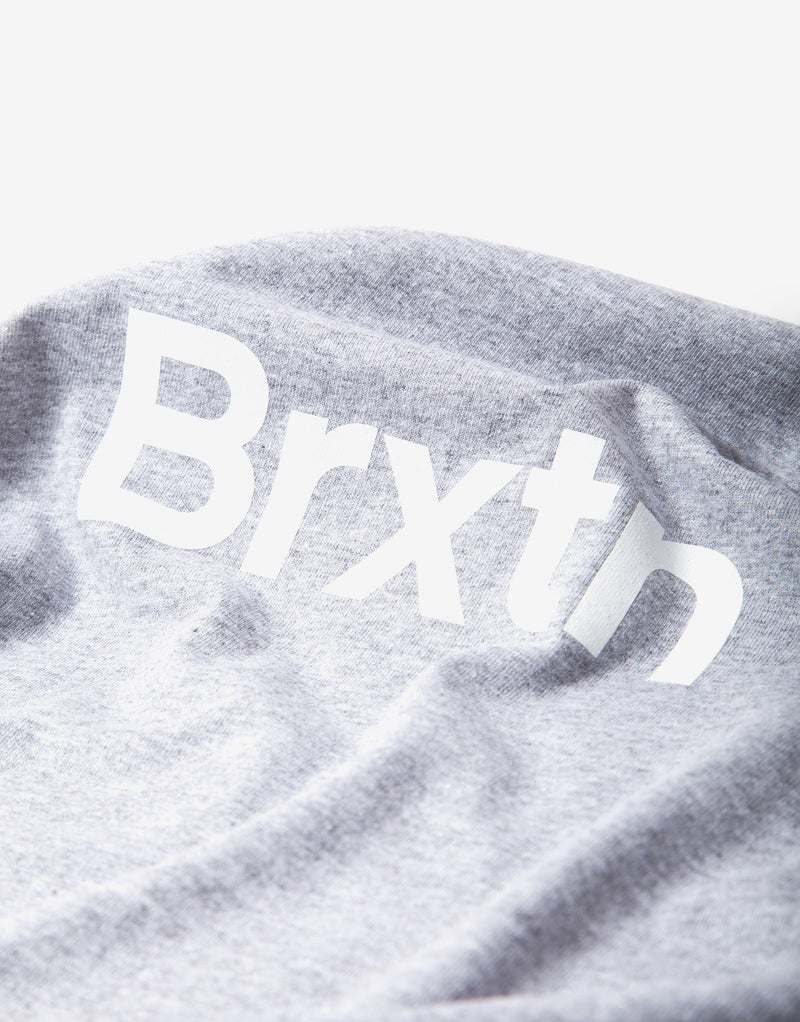 Brixton Gate Standard T Shirt - Heather Grey/White