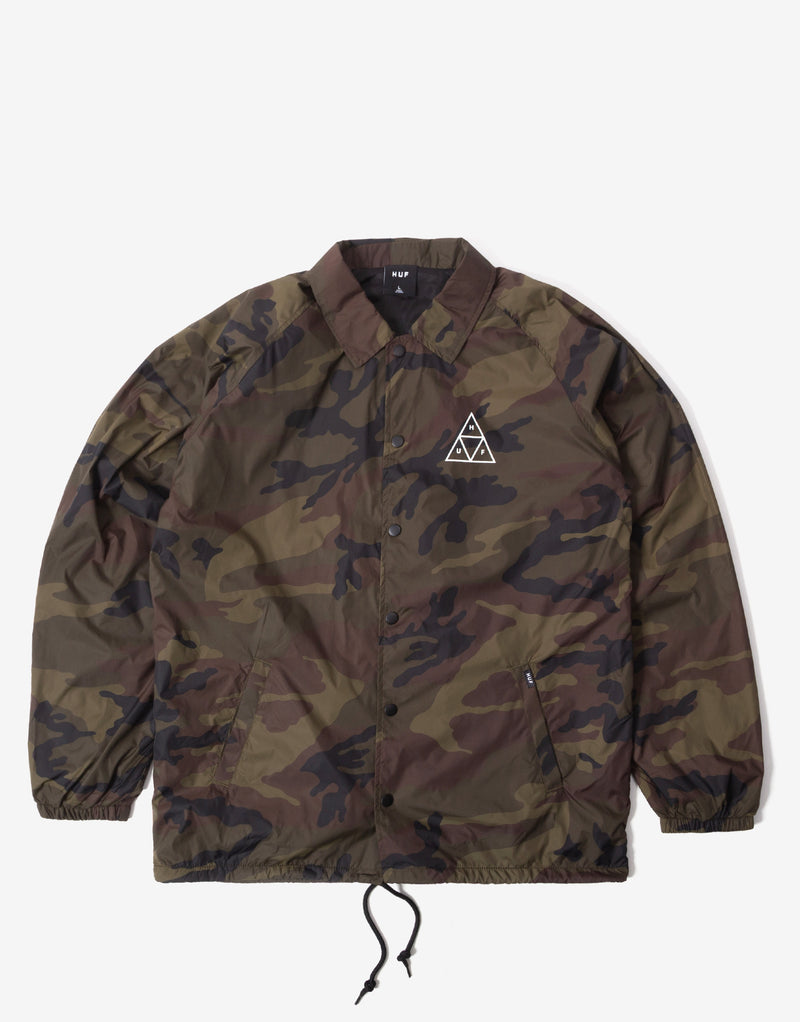 HUF Essentials Triple Triangle Coach Jacket - Woodland