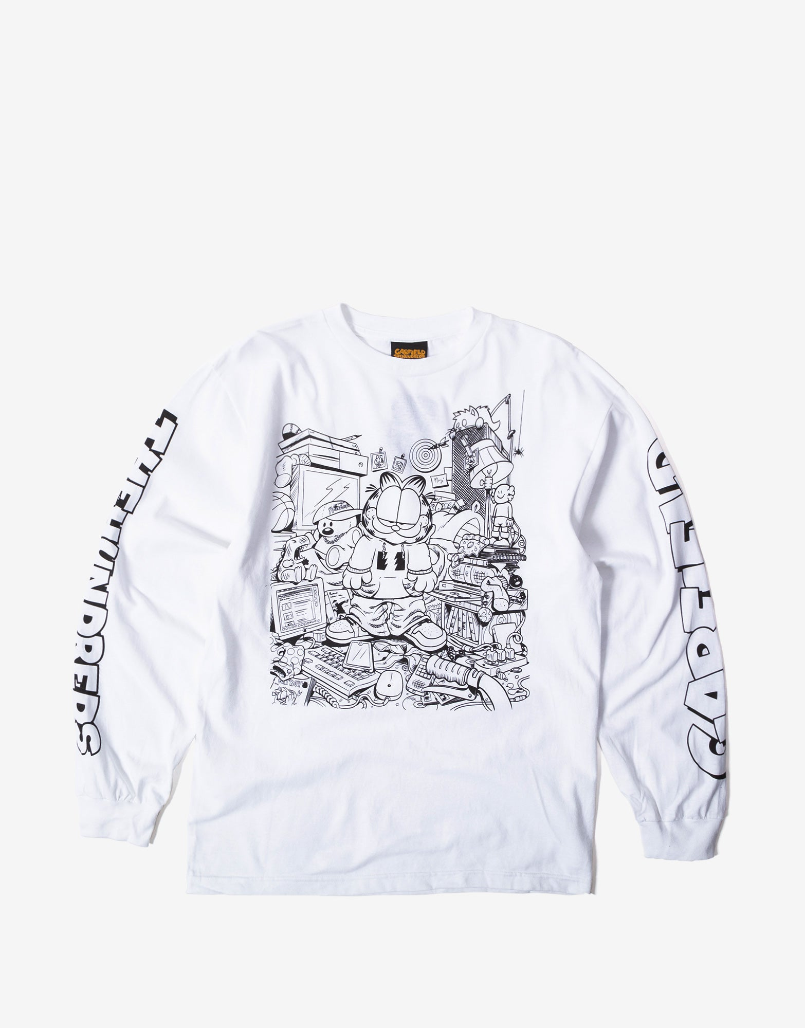 The Hundreds Messy Garfield Long Sleeve T Shirt - White