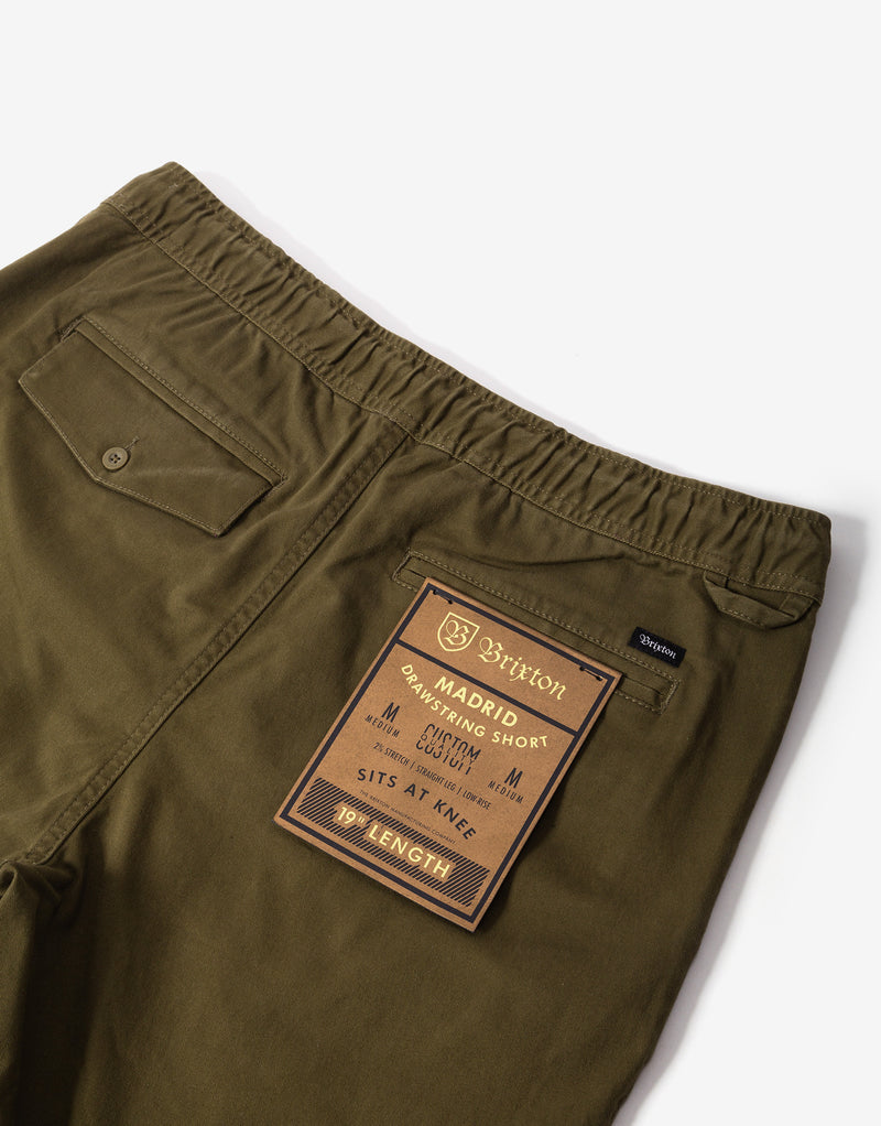 Brixton Madrid Shorts - Olive