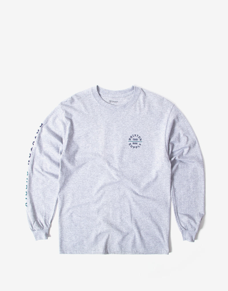 Brixton Oath VI Long Sleeve T Shirt - Heather Grey