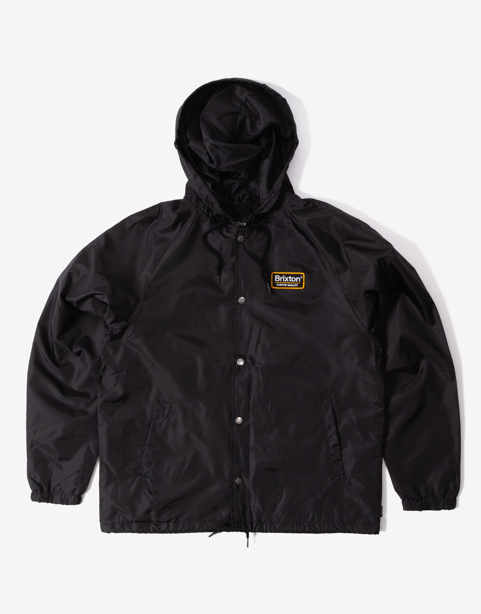 Brixton Palmer Hooded Jacket - Black/Gold