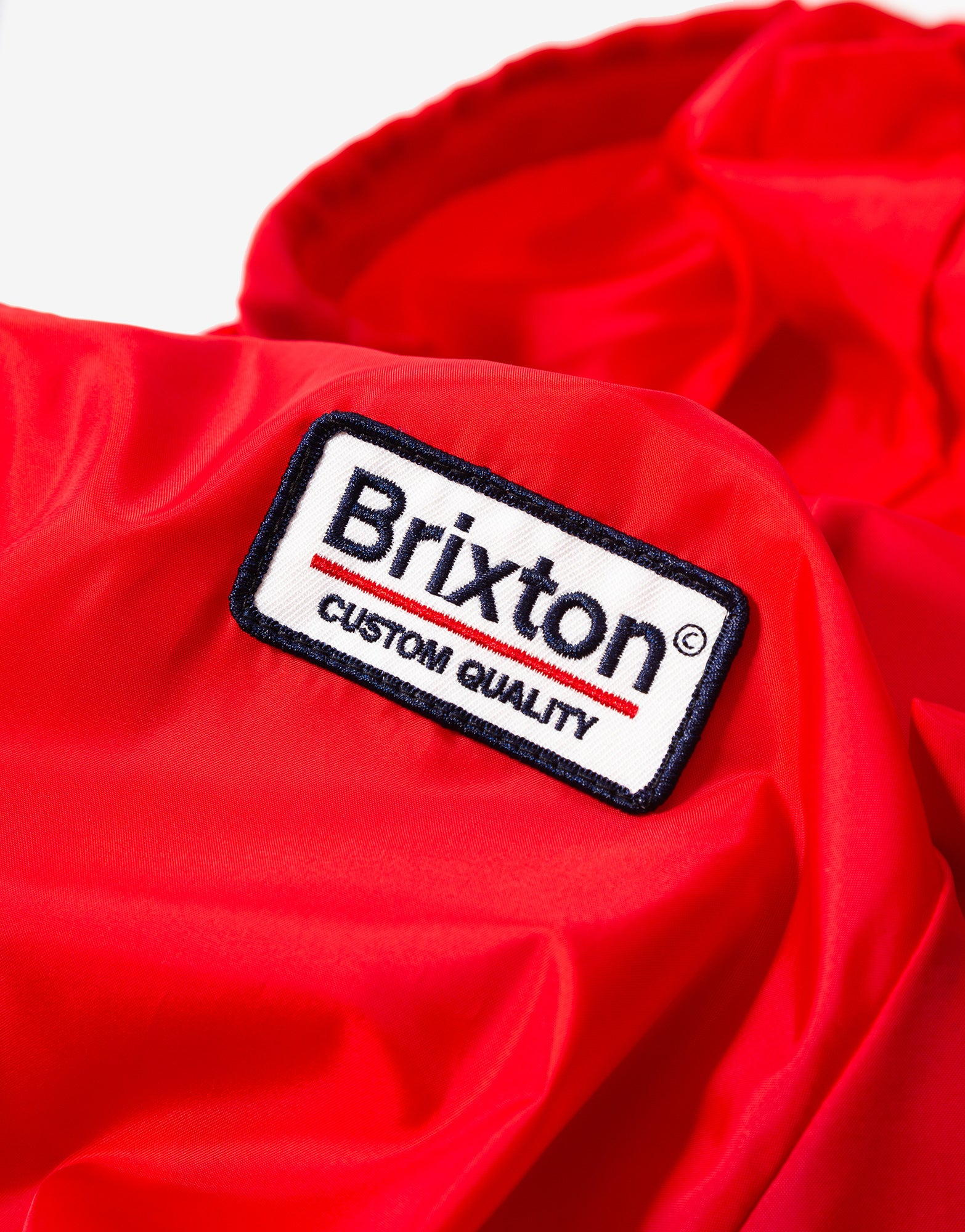 Brixton Palmer Hooded Jacket - Red/Navy