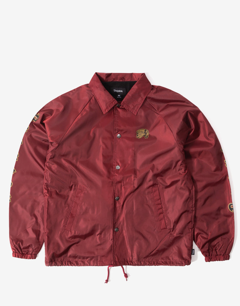 Brixton Primo Jacket - Burgundy/Black