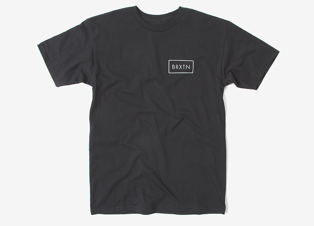 Brixton Rift T Shirt - Black/Grey