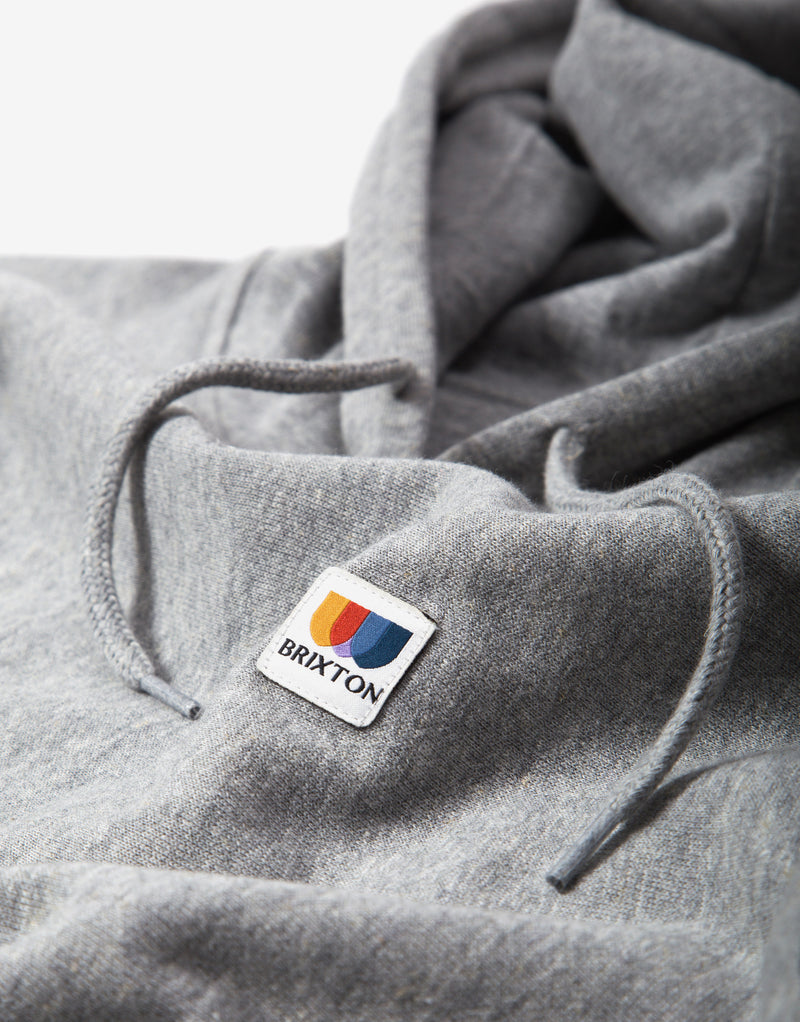 Brixton Stem X Hoody - Heather Grey