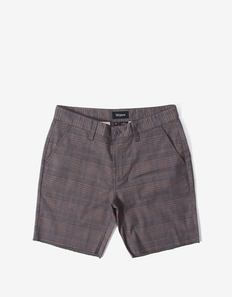 Brixton Toil II Short - Grey Plaid