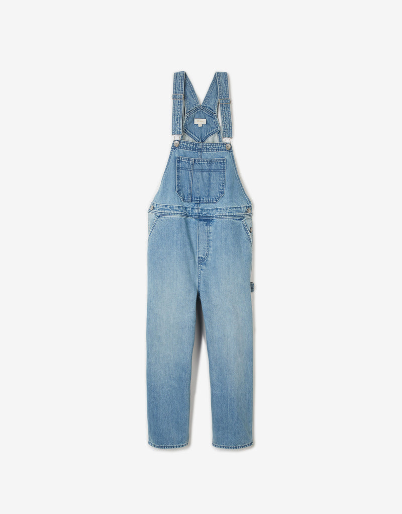 Brixton Women's Christina Crop Overall - Faded Indigo