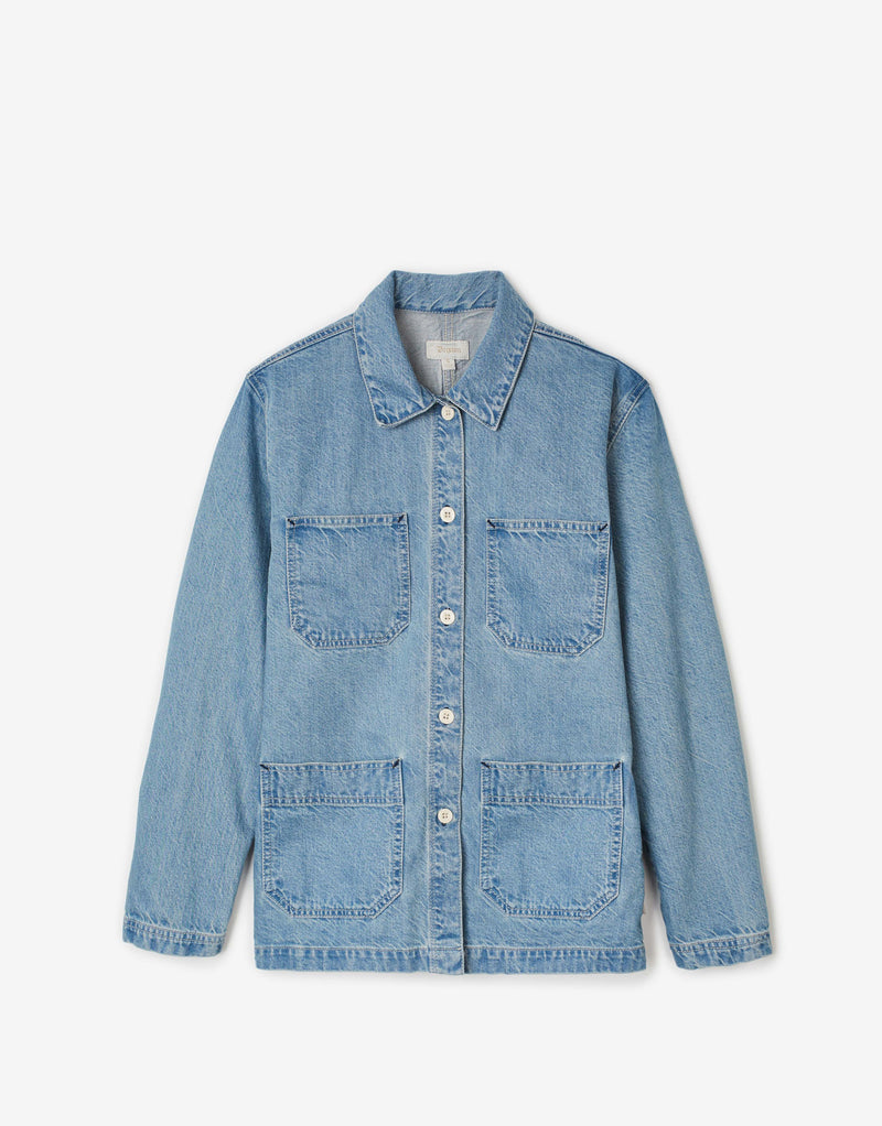 Brixton Women's Karen Chore Coat - Faded Indigo