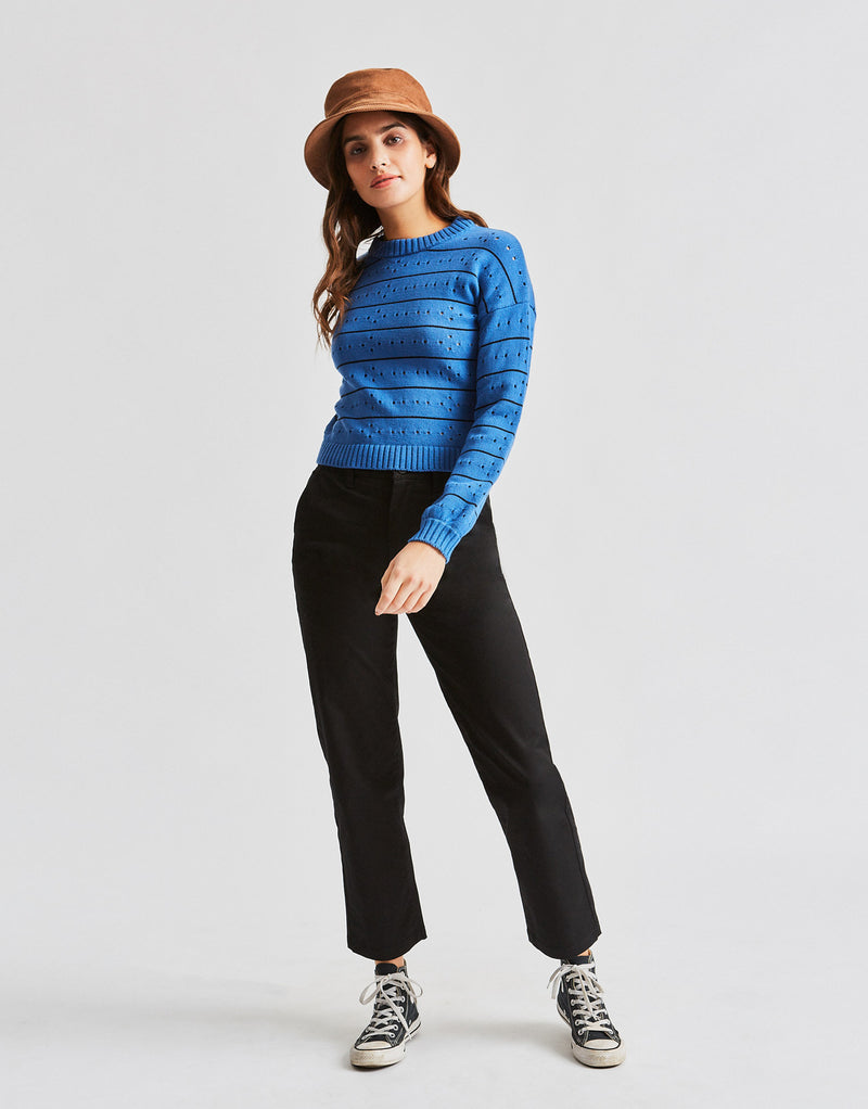 Brixton Women's Lima Sweater - River Blue