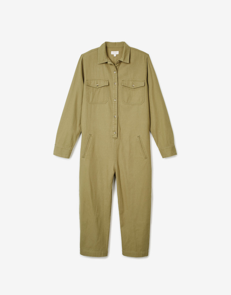 Brixton Women's Melbourne Crop Coverall - Washed Olive