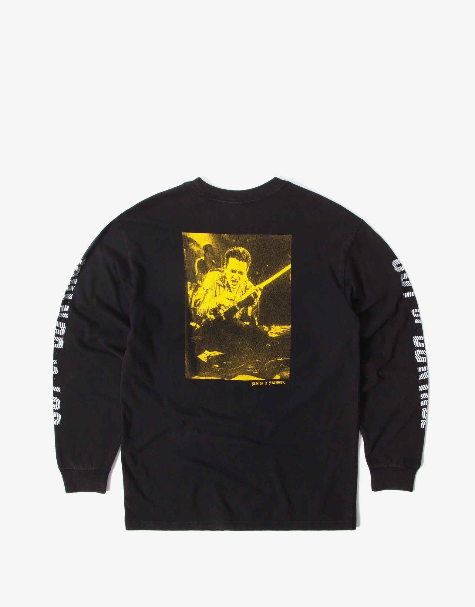 Brixton x Strummer Out Of Control Long Sleeve T Shirt - Black