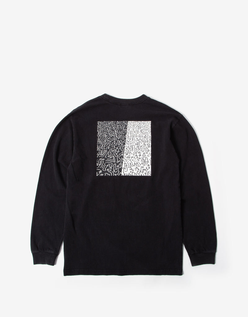 Brixton Crowd II Long Sleeve T Shirt - Black