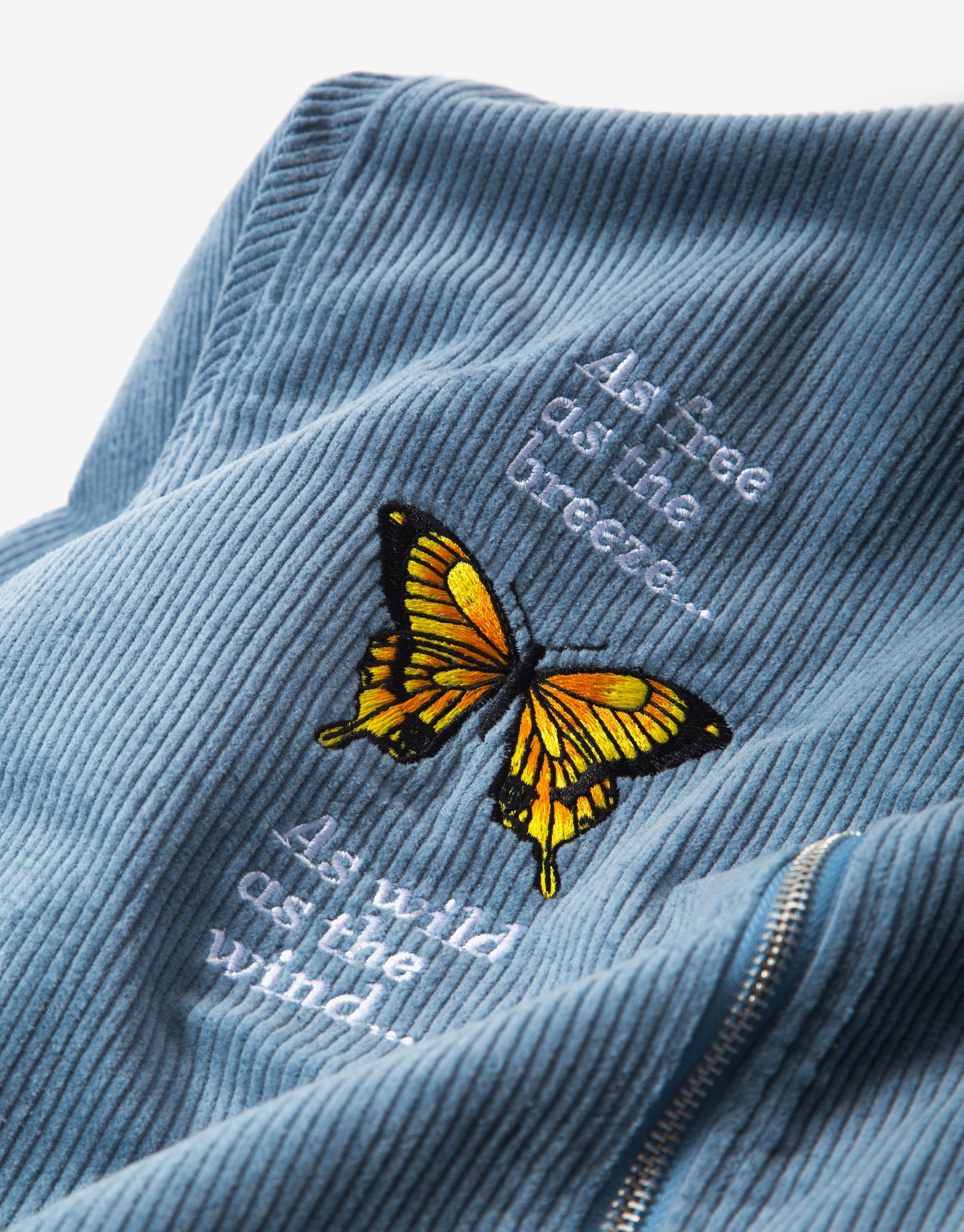 Butter Goods Butterfly Long Sleeve Work Shirt - Ice Blue