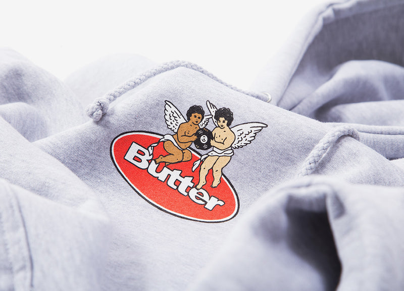 Butter Goods Cherub Pullover Hoody - Heather Grey