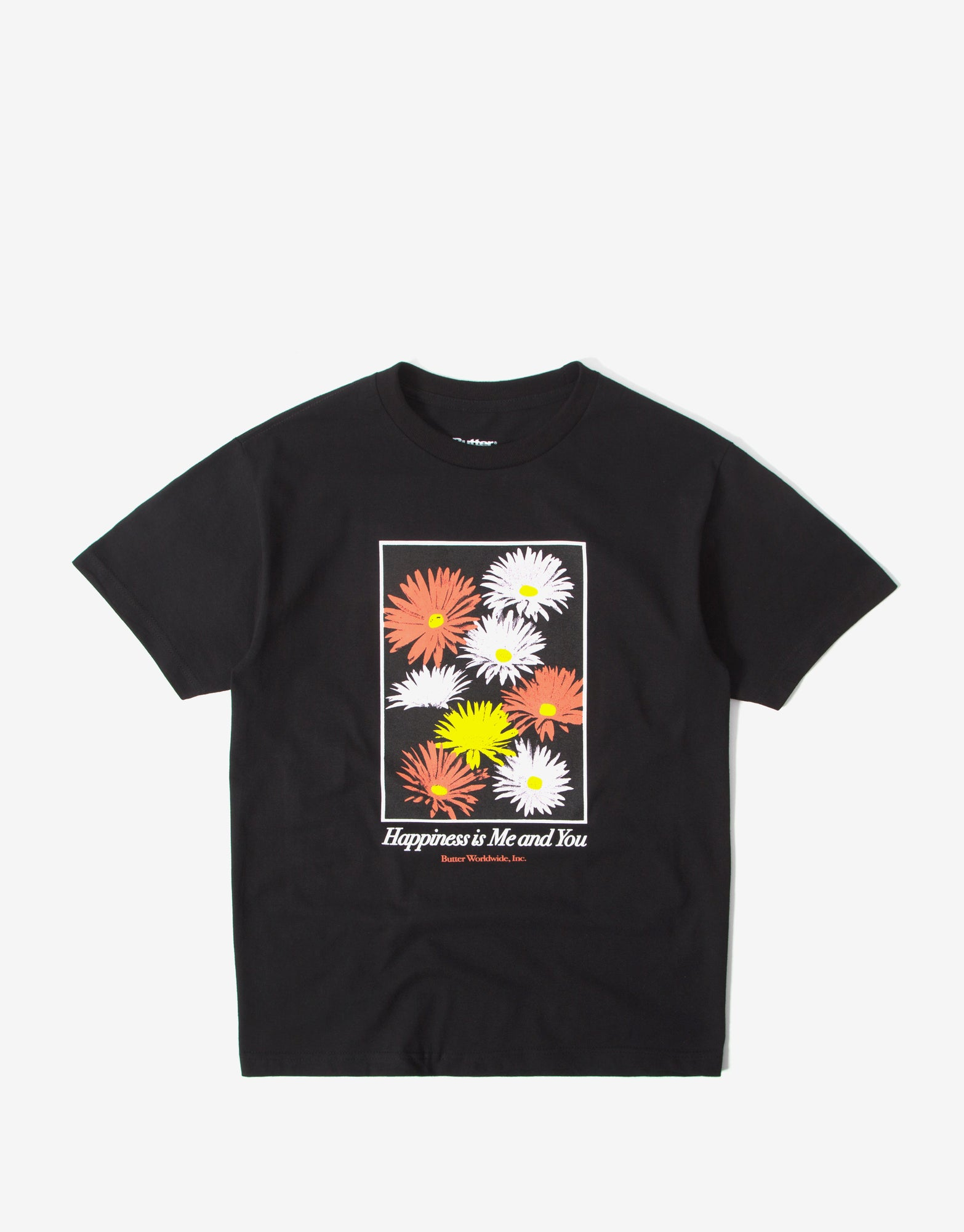 Butter Goods Happiness T Shirt - Black