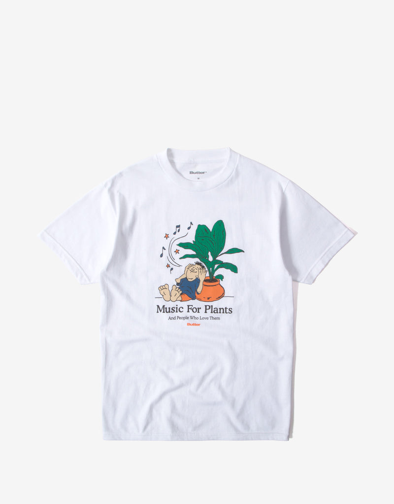 Butter Goods Music For Plants T Shirt - White