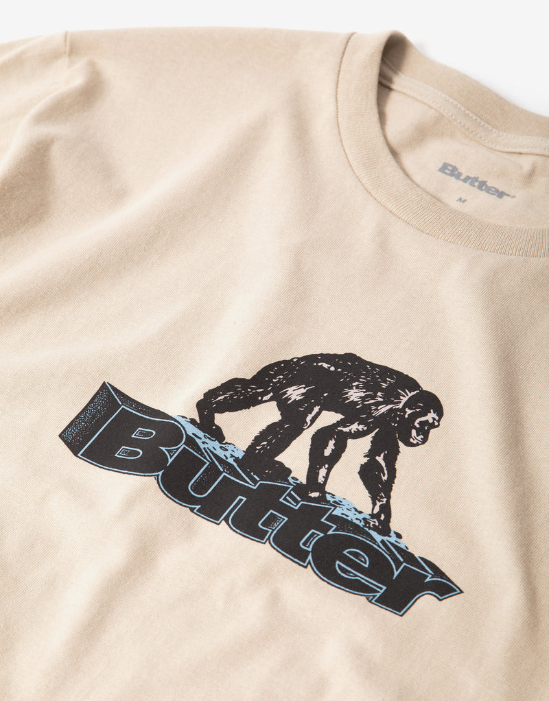 Butter Goods Primate T Shirt - Sand