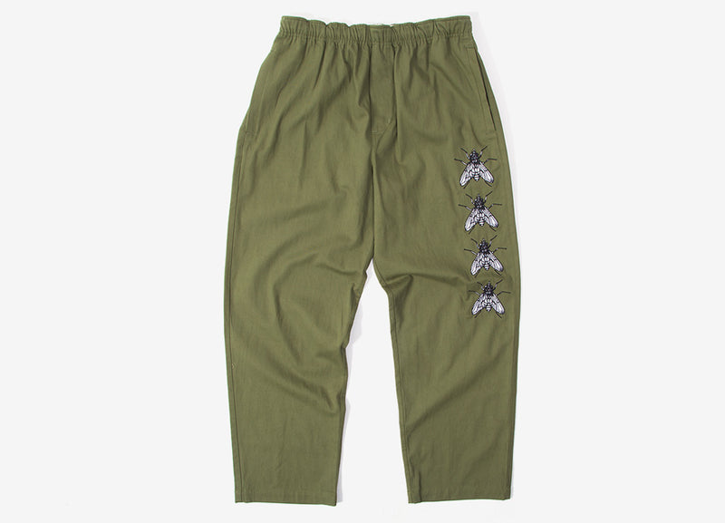 Butter Goods Swarm Embroidered Pants - Army