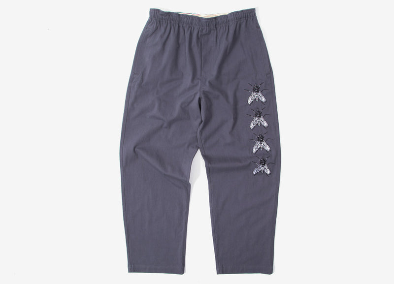 Butter Goods Swarm Embroidered Pants - Charcoal