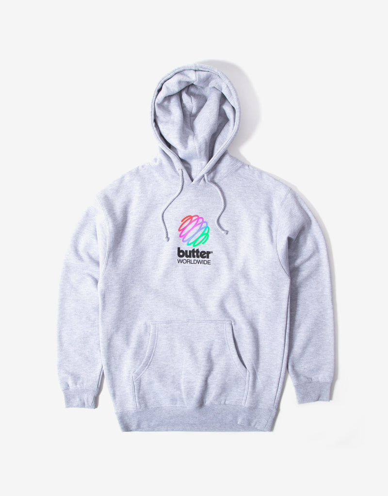 Butter Goods Telecom Hoody - Heather Grey