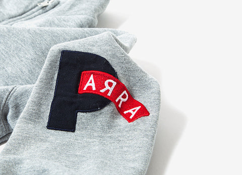 By Parra Club Not Half Zip Sweatshirt - Heather grey