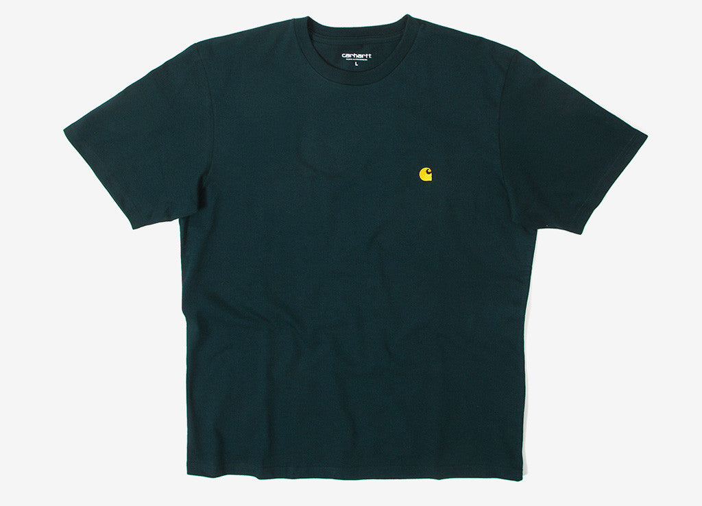 Carhartt Chase T Shirt - Parsley/Gold
