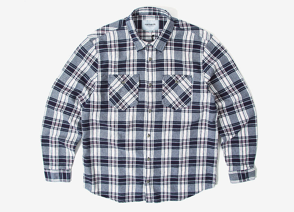 Carhartt Franklin Shirt - Snow/Blue