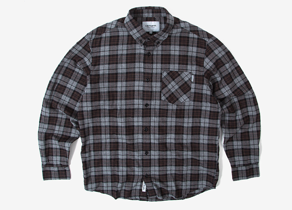 Carhartt Norton Shirt - Dark Grey Heather/Tobacco