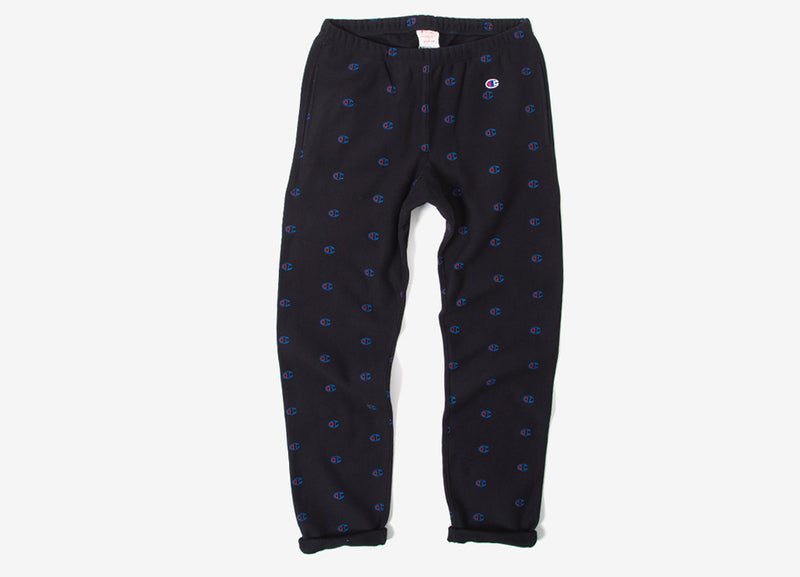 Champion Reverse Weave Allover Print Sweatpant - Black