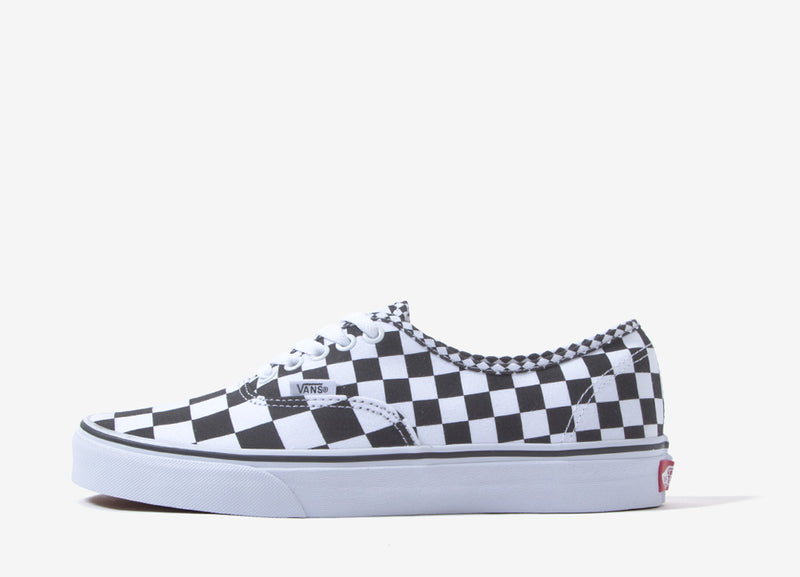 Vans Authentic 'Mix Checker' Shoes - Black/White