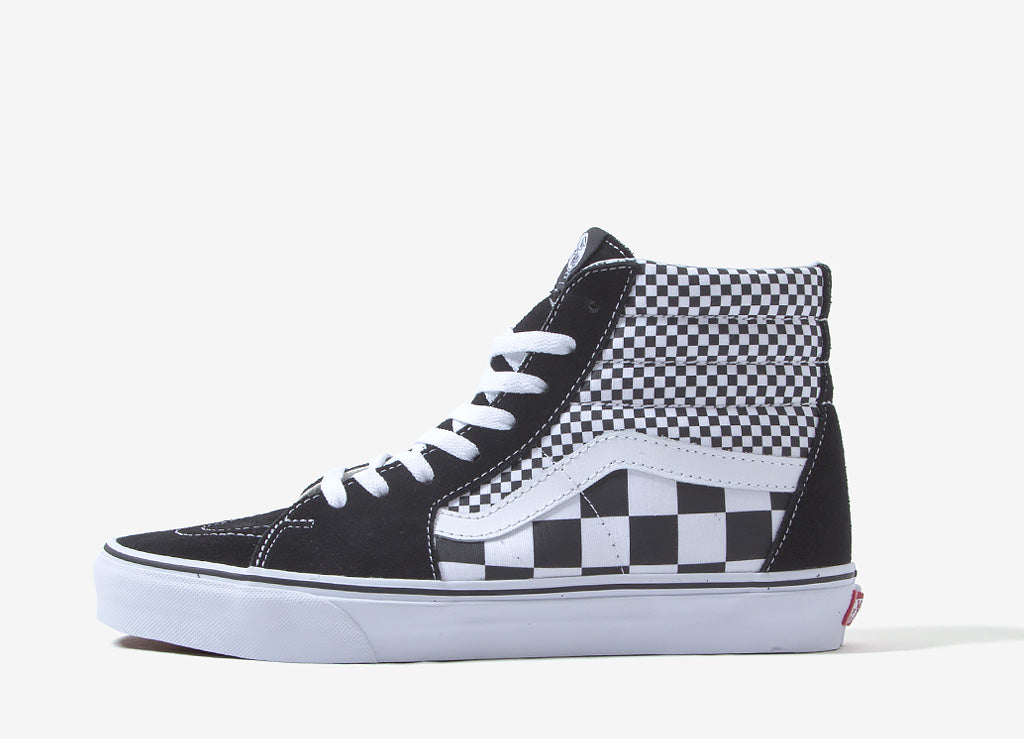 e2fa3dda2d8f Vans Sk8-Hi  Mix Checker  Shoes Black