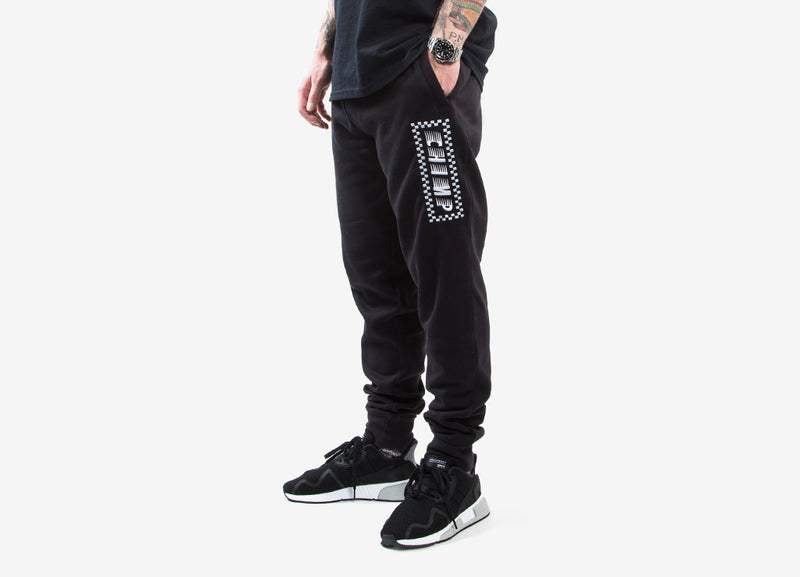 Chimp Raceway Embroidered Sweatpants - Black
