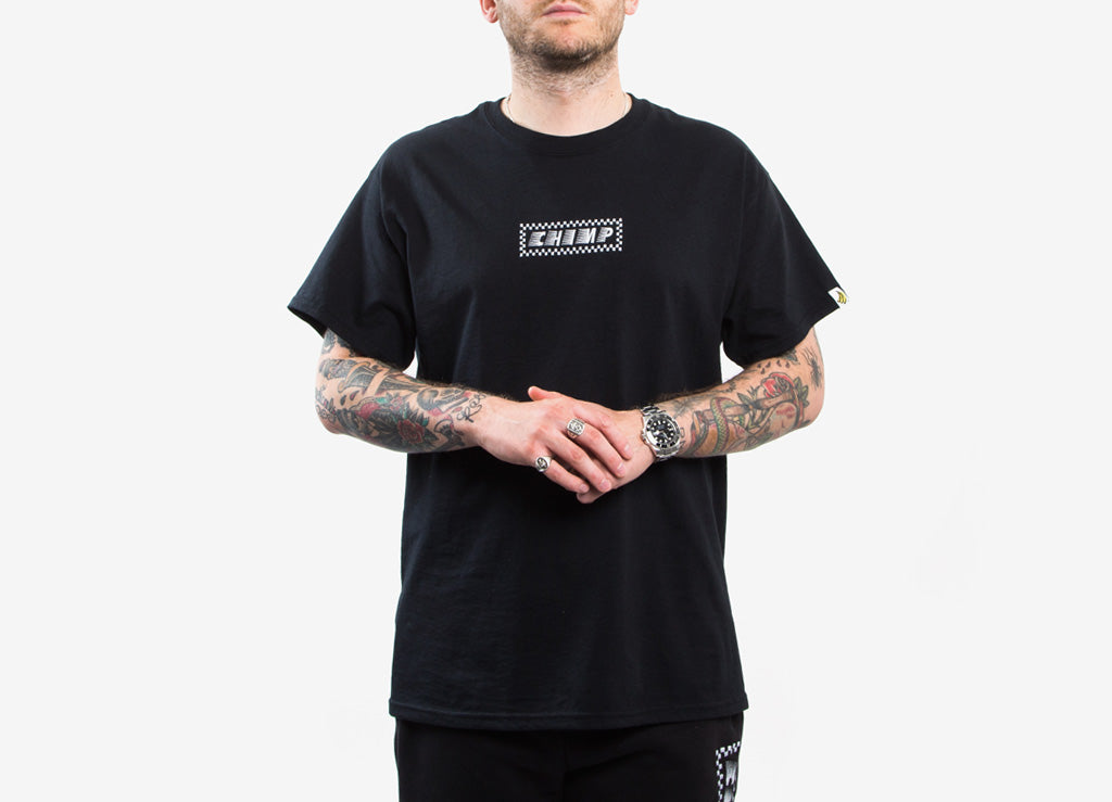 Chimp Raceway Embroidered T Shirt - Black