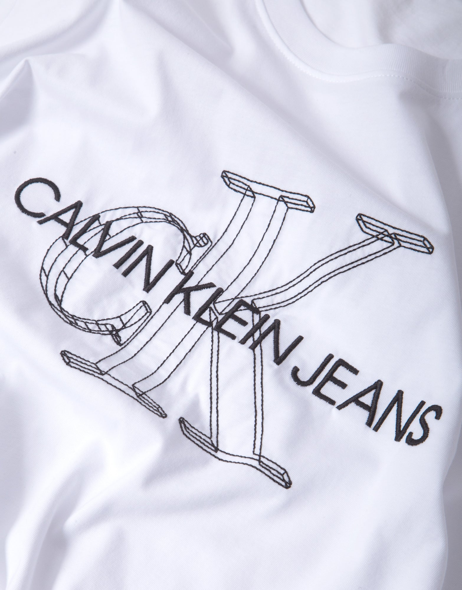 Calvin Klein 3D Monogram T Shirt - Bright White