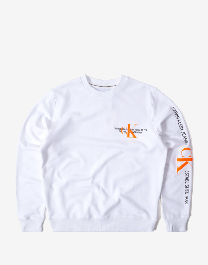 Calvin Klein CK Urban Graphic Logo Sweatshirt - Bright White