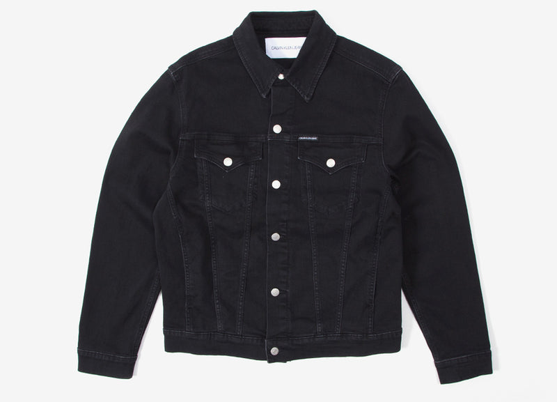 Calvin Klein Foundation Slim Denim Jacket - Washed Black