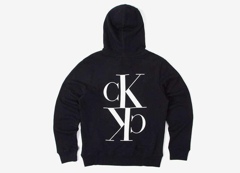 Calvin Klein Mirrored Monogram Hoody - CK Black/White