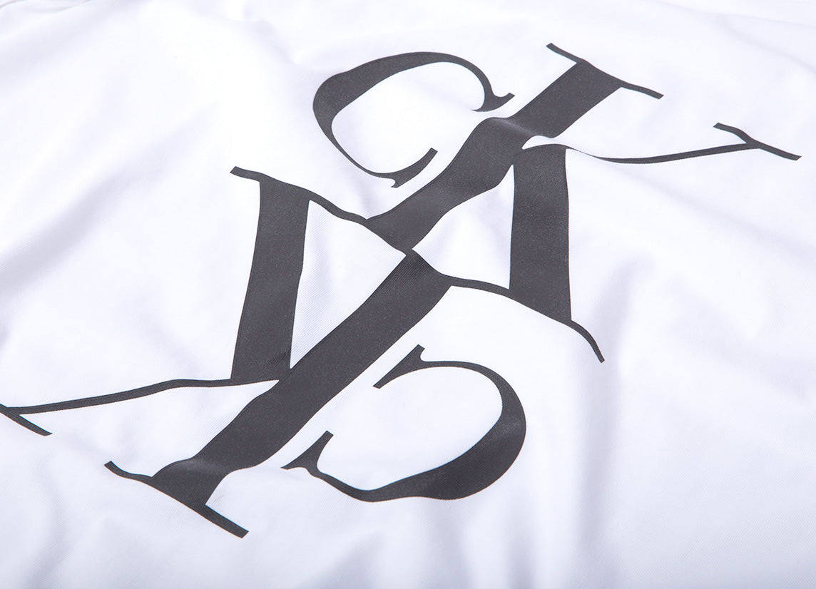 Calvin Klein Mirrored Monogram T Shirt - Bright White/Black