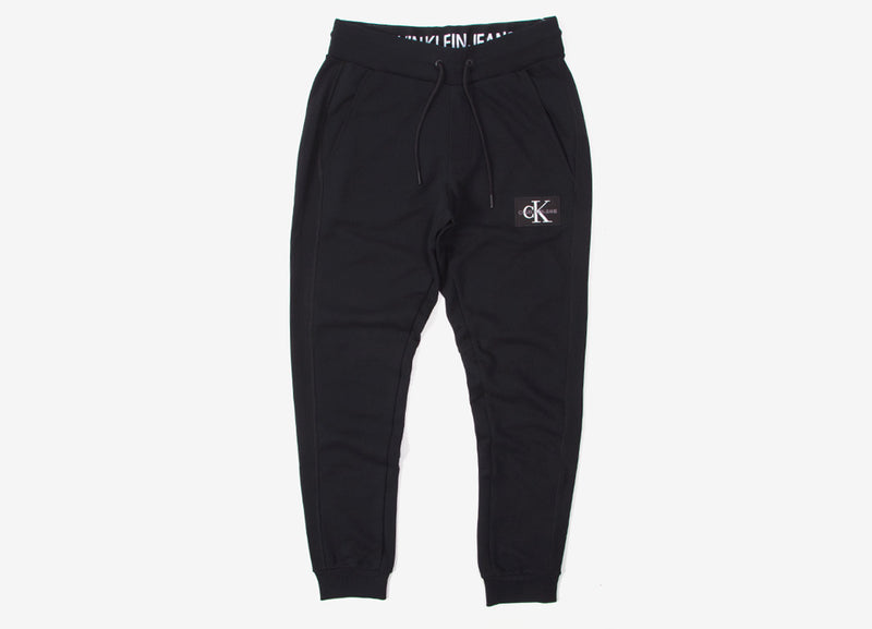 Calvin Klein Monogram Patch Knit Pant - CK Black