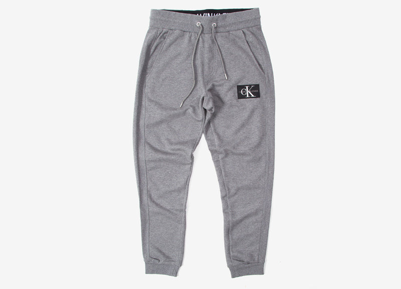 Calvin Klein Monogram Patch Knit Pant - Mid Grey Heather