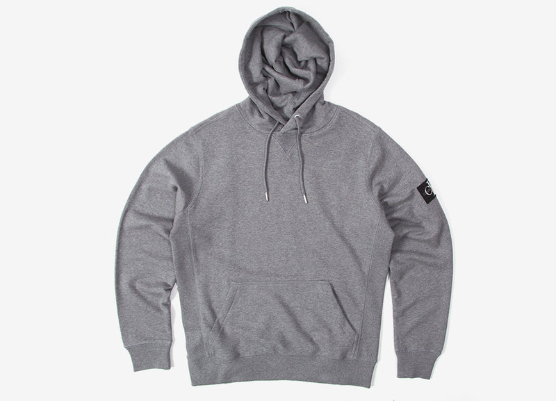 Calvin Klein Monogram Sleeve Hoody - Mid Grey Heather