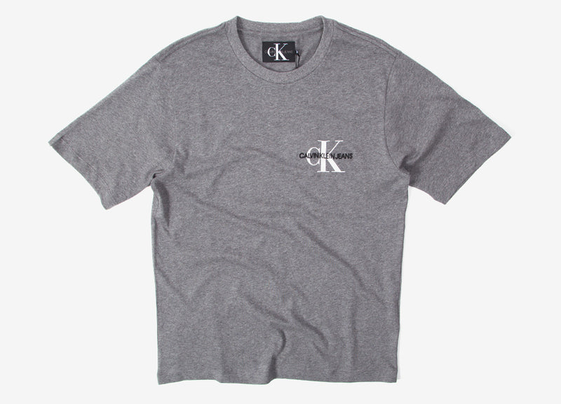 Calvin Klein Monogram T Shirt - Grey Heather