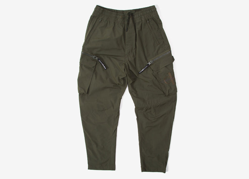 Calvin Klein Oversized Cargo Zip Pocket Pants - Deep Depths