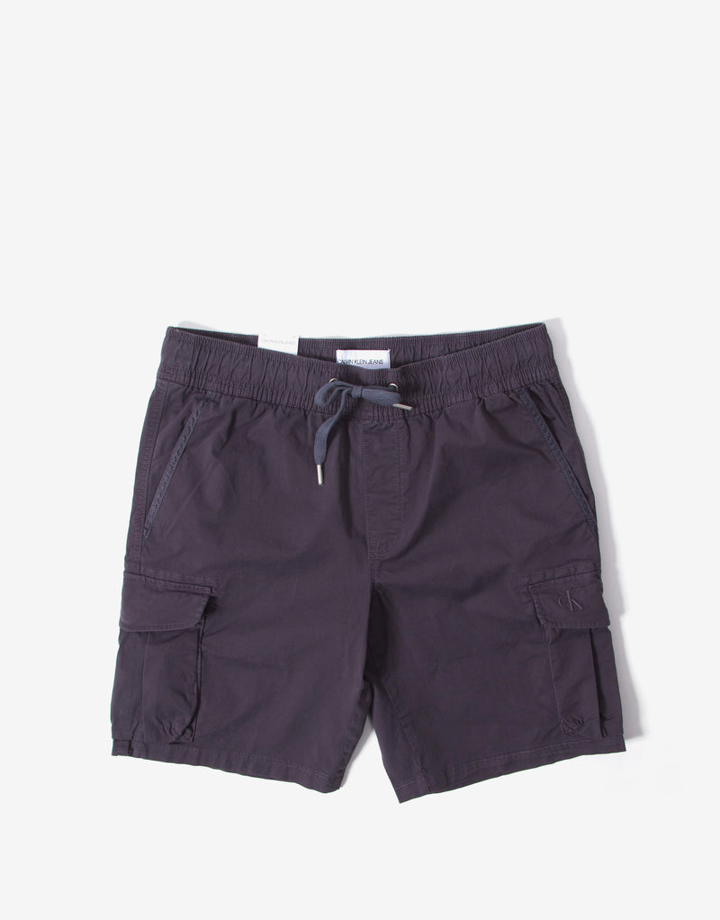 Calvin Klein Simple Washed Cargo Short - Abstract Grey